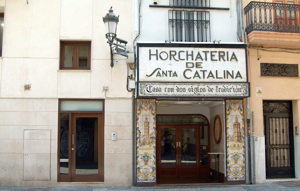 Horchateria de Santa Catalina in El Carmen, Valencia. Photo courtesy of Horchateria de Santa Catalina