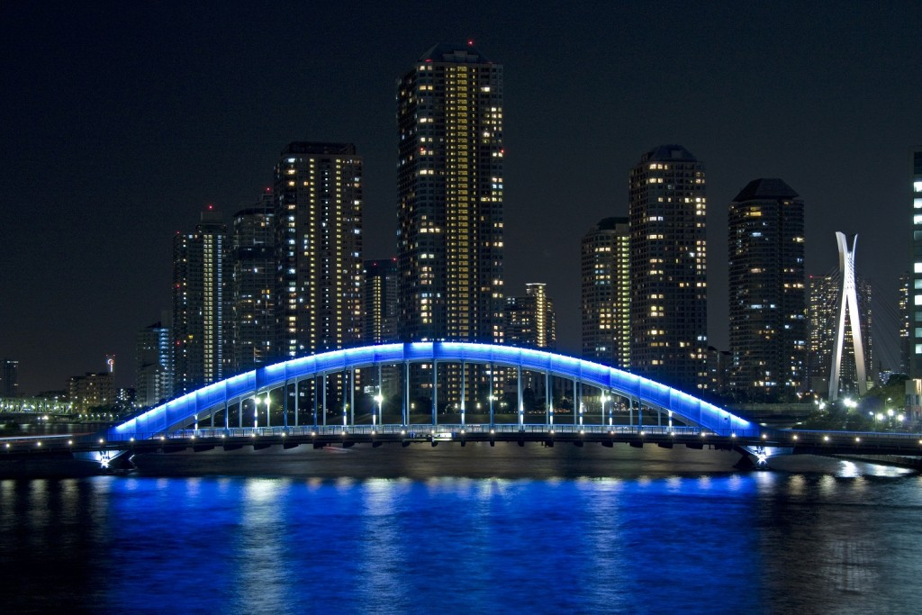 Eitai Bridge at night | © ta / WikiCommons