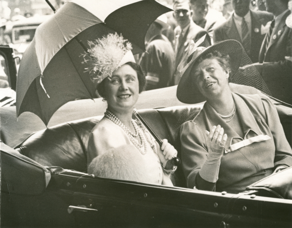 Eleanor Roosevelt and Queen Elizabeth en route to the White House from Union Station. June 8, 1939   @ FDR Presidential Library & Museum/Flickr