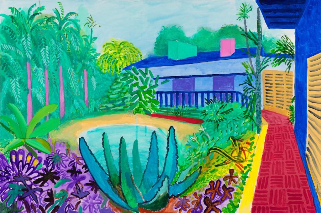 """Garden, 2015"" © David Hockney. Photo Credit: Richard Schmidt"