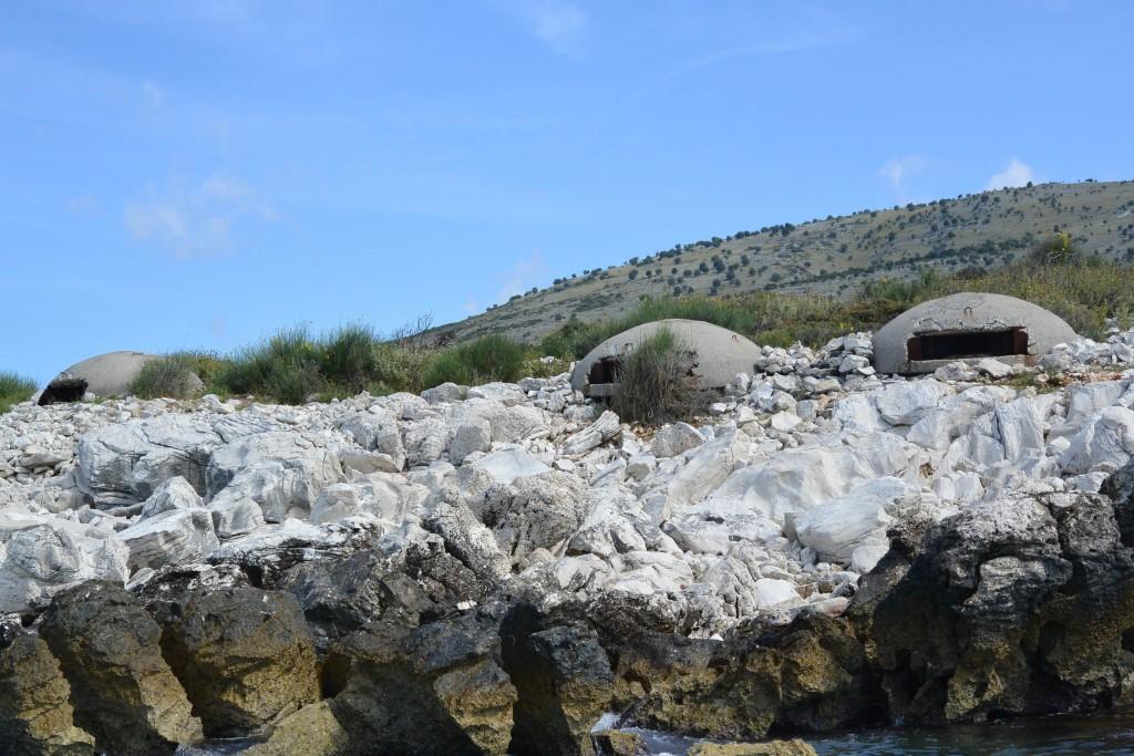 Hoxha's bunkers guarding the Albanian coast | © Huw Kingston