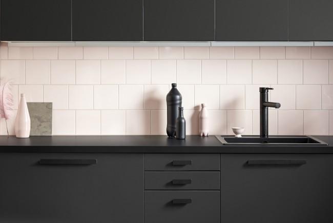 Black Bar Kitchen Cabinet