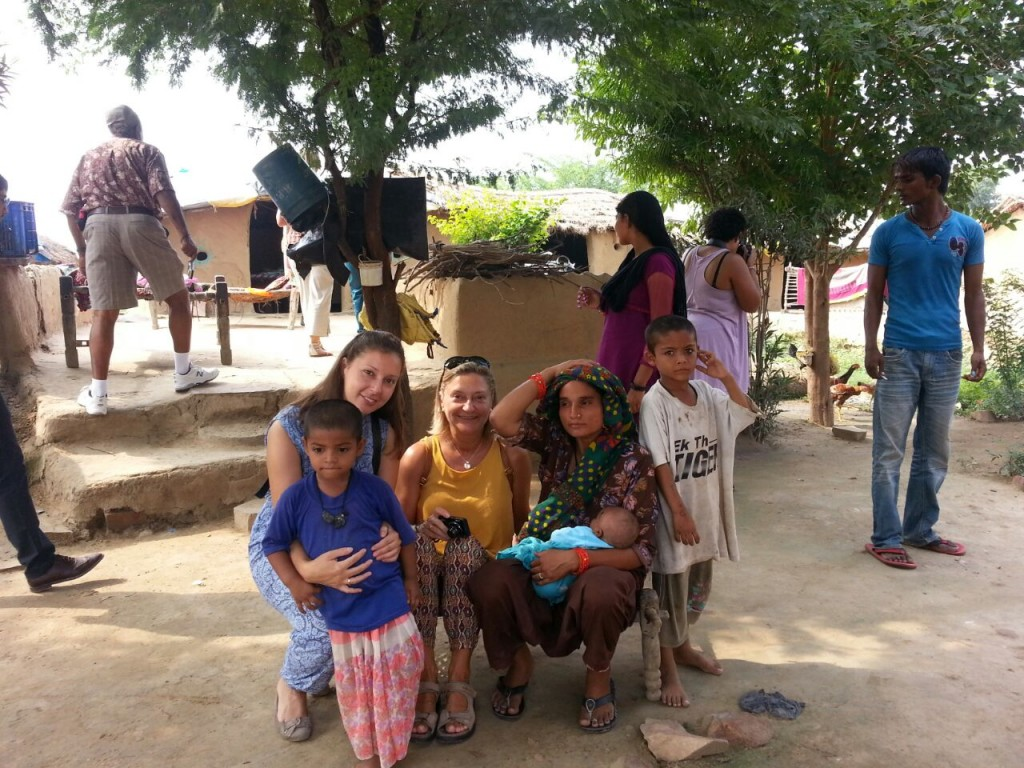 Foreigners spending quality time with the villagers © koraivillageagra.com