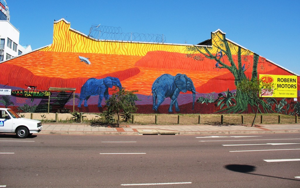 A mural painted by a numer of Durban artists including © Samora Chapman