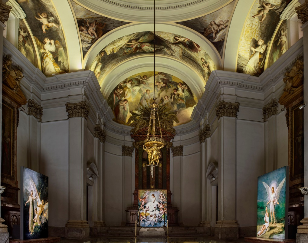 A view of 'Angelas' at the Chapel San Antonio de la Florida in Madrid   © Denise De La Rue