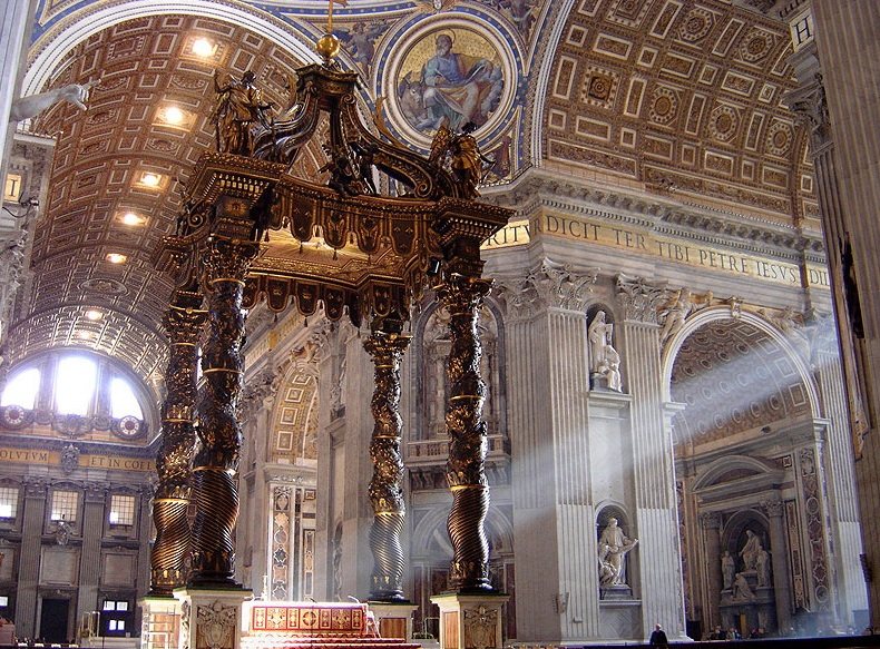 Baldacchino at St Peters | © Ricardo André Frantz/Wikicommons