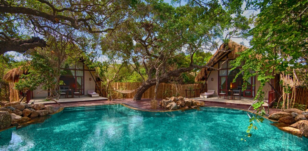 Cluster chalets and private pool at Jungle Beach by Uga Escapes|© Courtesy of Uga Escapes