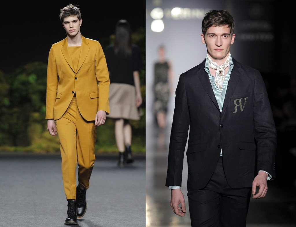 Go vibrant with a Juanjo Oliva suit (left) or classic with a Roberto Verino suit (right) | © Foto Ugo Camera/IFEMA