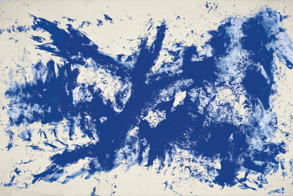 Large Blue Anthropometry [Ant 105] by Yves Klein   Guggenheim Museum Bilbao