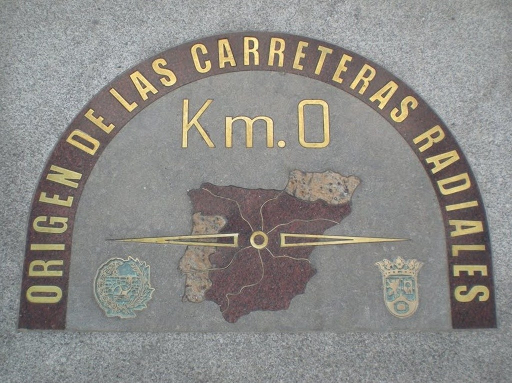 The Km.0 is rumored to be the exact center of Spain | © Kaetzar/Wikipedia