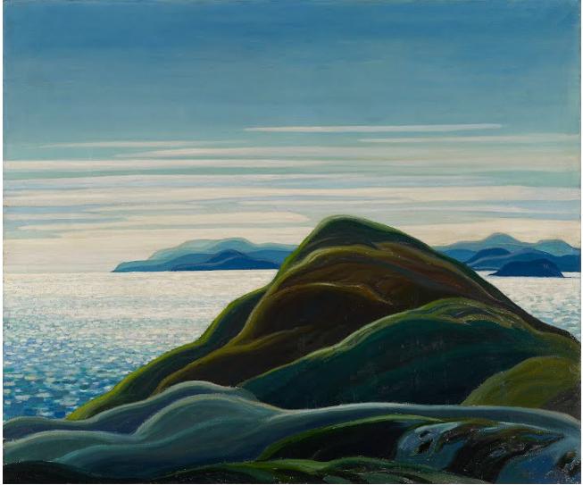 1)North Shore, Lake Superior (1927) by Franklin Carmichael | Courtesy Google Art Project