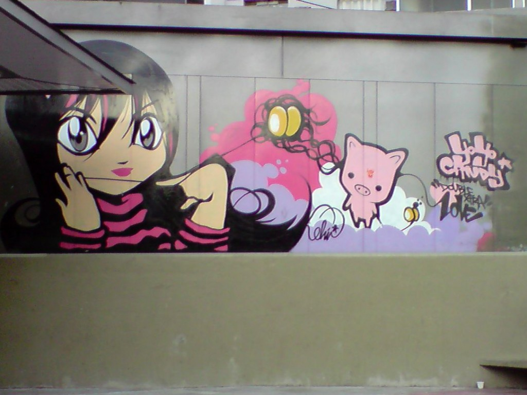 Anime graffiti Liberdade © Marco Gomes/Flickr