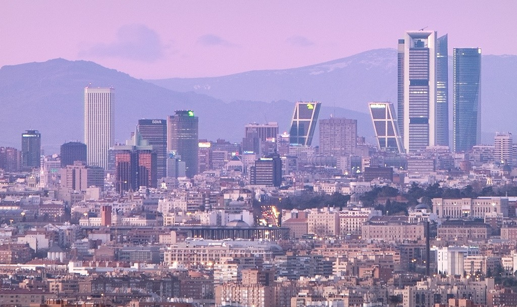 Madrid's skyline at sunset | © Madrid Destino Cultura Turismo y Negocio