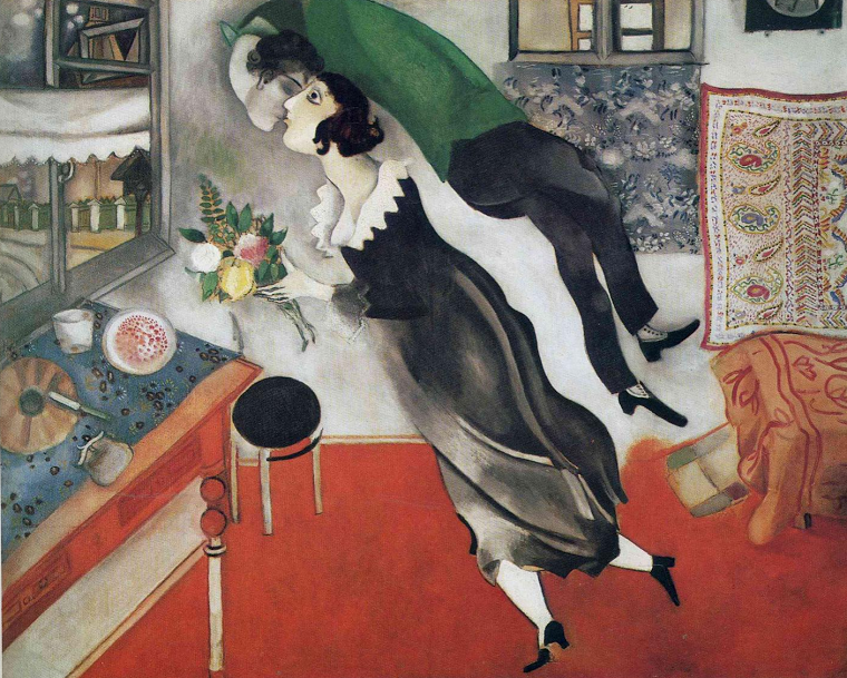 Marc Chagall - The Birthday 1915 @ Wikicommons