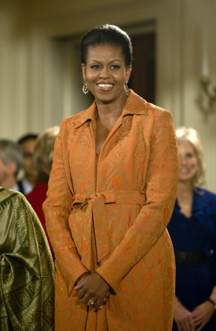 Michelle Obama at a public appearance for Arrival of Prime Minister of India for White House State Visit   @ Everett Collection/Shutterstock