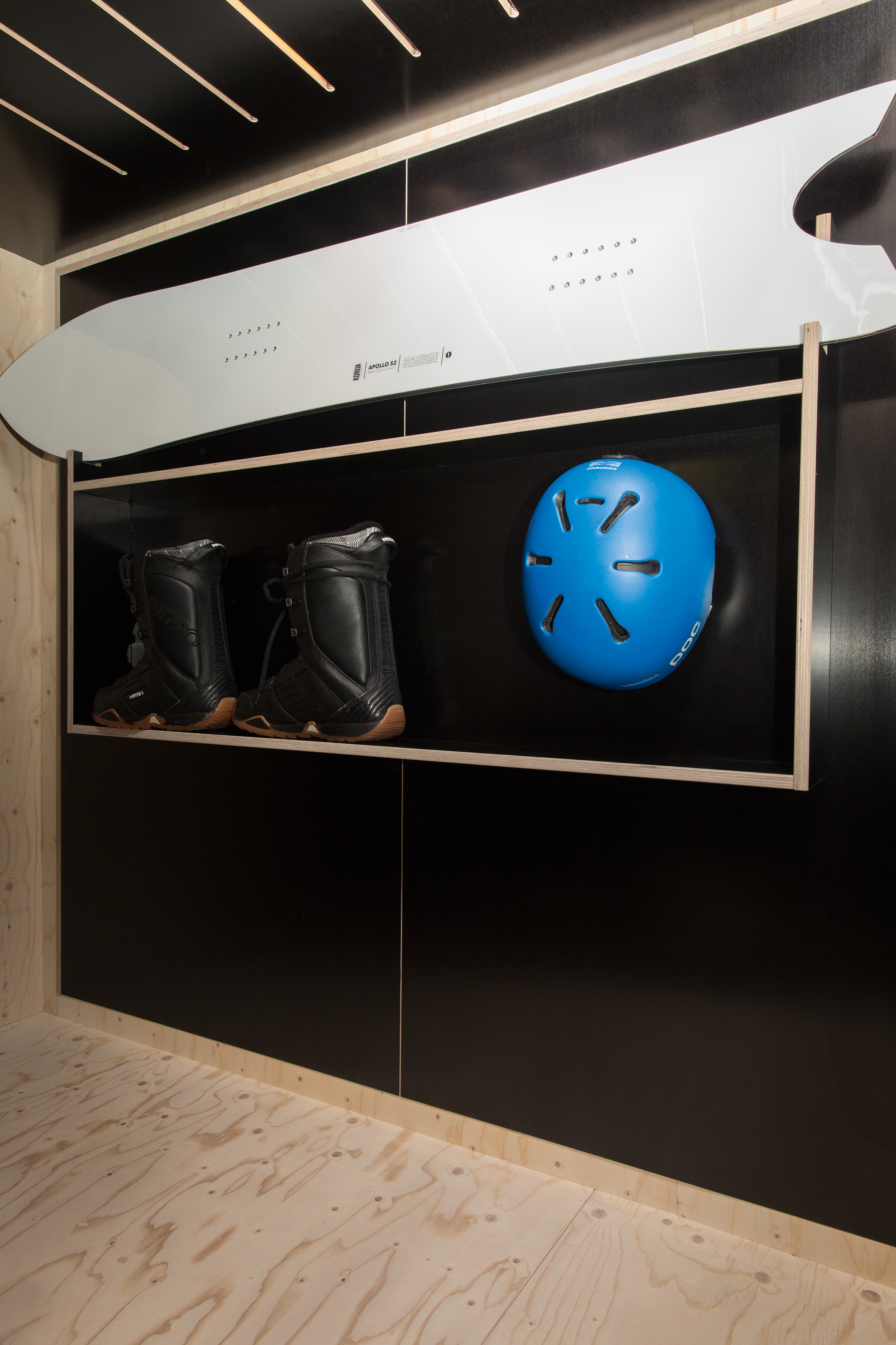 The Kammerspiel's storage space for snowboards or skis | © Julia Rotter