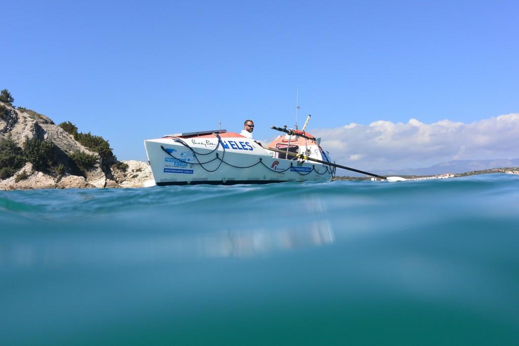Huw's rowboat 'Mr Hops' | © Huw Kingston