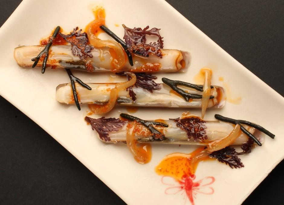 Thai style razor clams Courtesy of Dos Palillos
