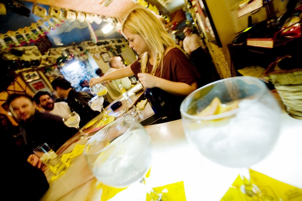Many cafes in Valencia transform into bars after dark. Photo courtesy of Valencia Tourism