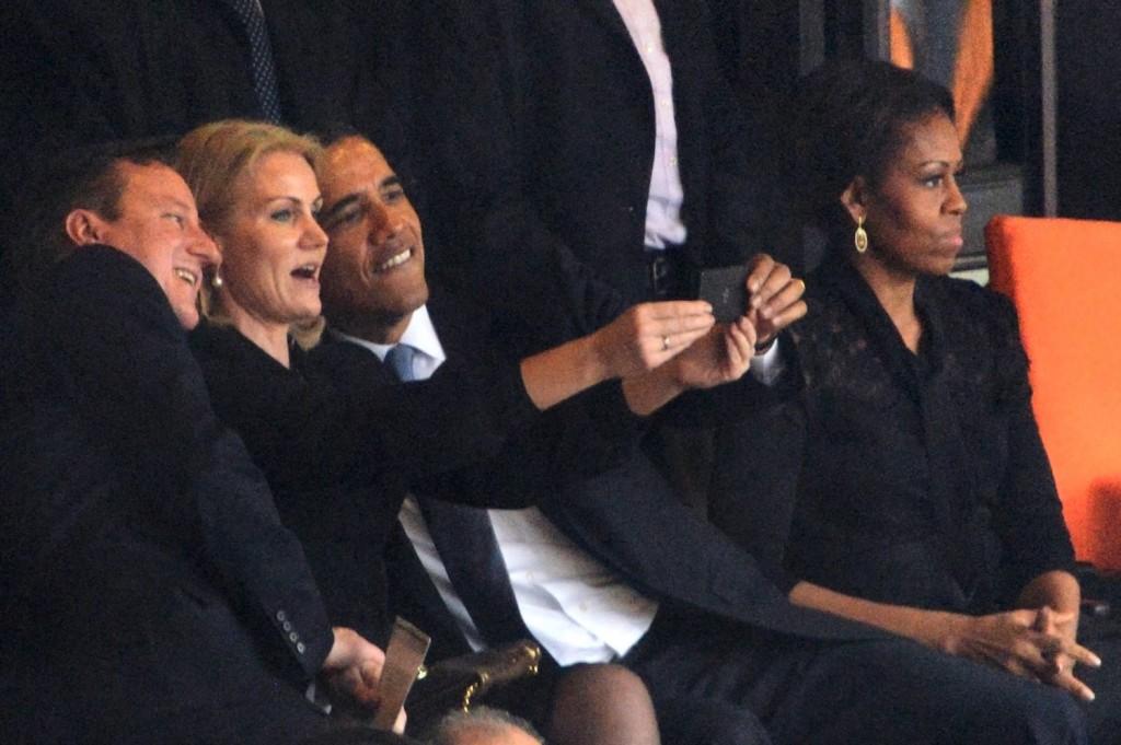 Barack Obama selfie with Danish Prime Minister, 2013 | Courtesy Roberto Schmidt/AFP/Getty Images
