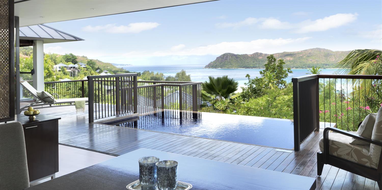 Views from the panoramic villa at Raffles