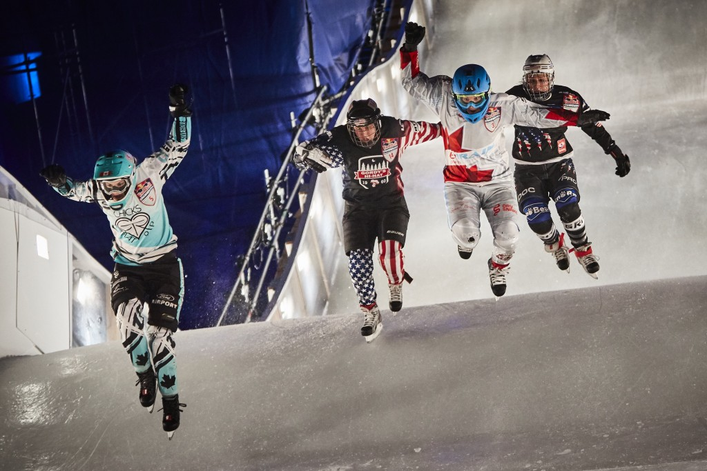 Myriam Trepanier, Amanda Trunzo, Tamara Kajah and Sadie Lundquist in the women's final   © Red Bull Content Pool
