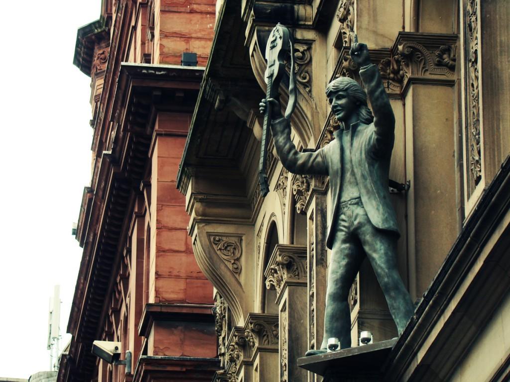 Paul McCartney statue on the Hard Day's Night Hotel