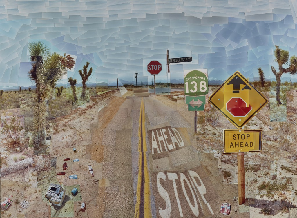 David Hockney, Pearblossom Hwy., 11 - 18th April 1986 #1, 1986. The J. Paul Getty Museum, Los Angeles, Gift of David Hockney. 