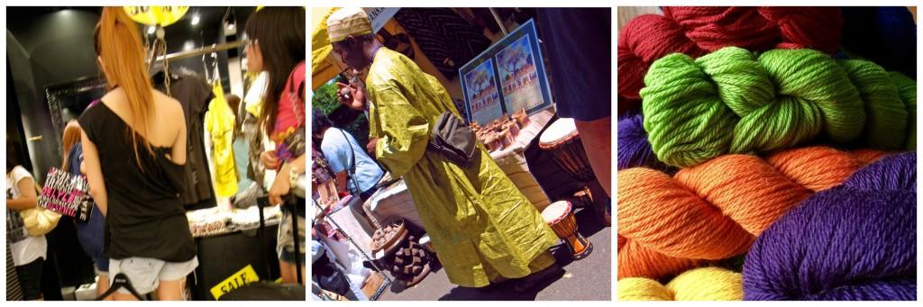 Shibuya 109 shop assistant | © Paul Keller / Flickr / African festival in Hibiya Park | © tata_aka_T / WikiCommons / Colorful yarn | © annekarakash / Pexels