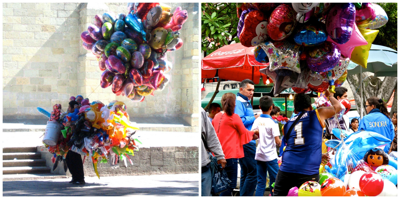 Balloon seller in Oaxaca | © Lorena/Flickr / Balloon seller in Cuernavaca | © Felicity Rainnie/Flickr