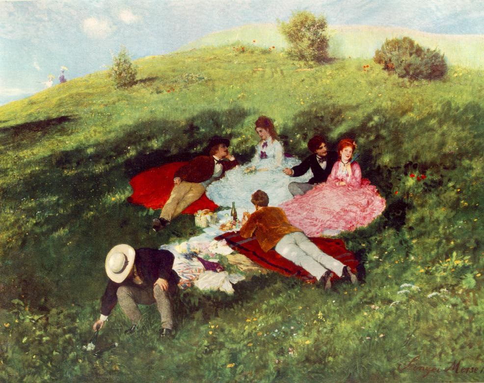 Picnic in May Painting