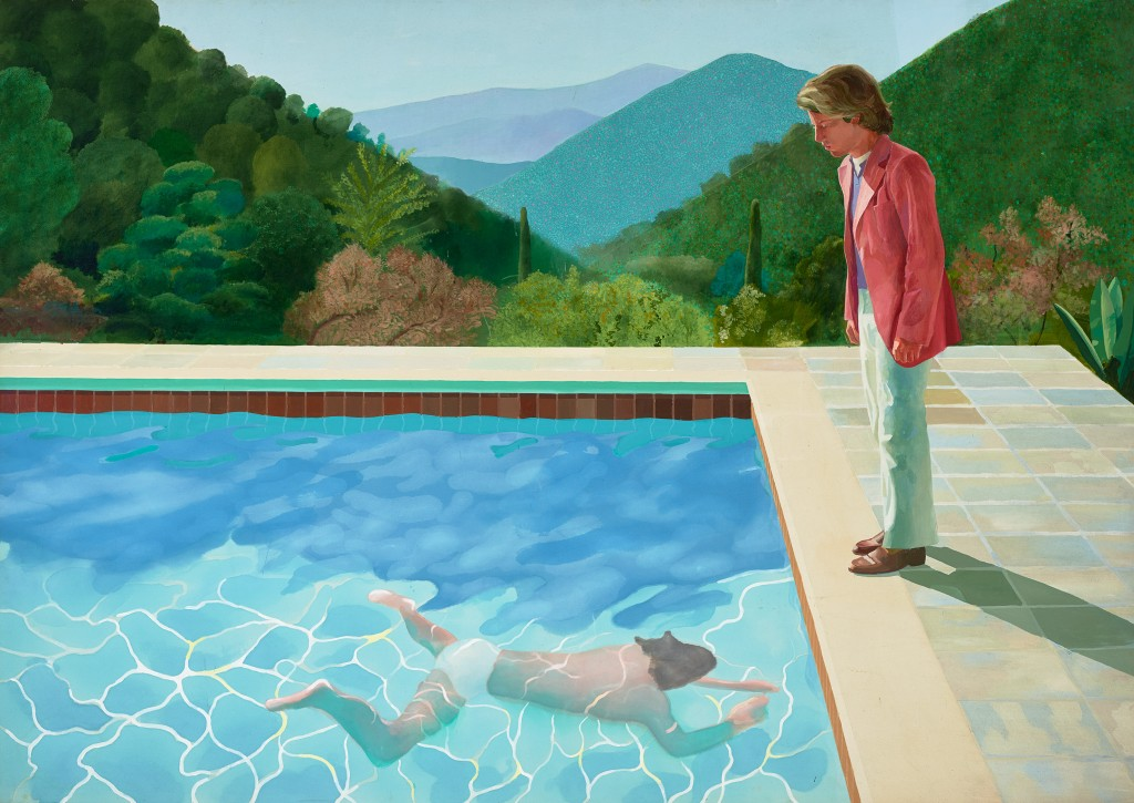 David Hockney, Portrait of an artist (Pool with two figures), 1972. © David Hockney. Photo Credit: Art Gallery of New South Wales / Jenni Carter