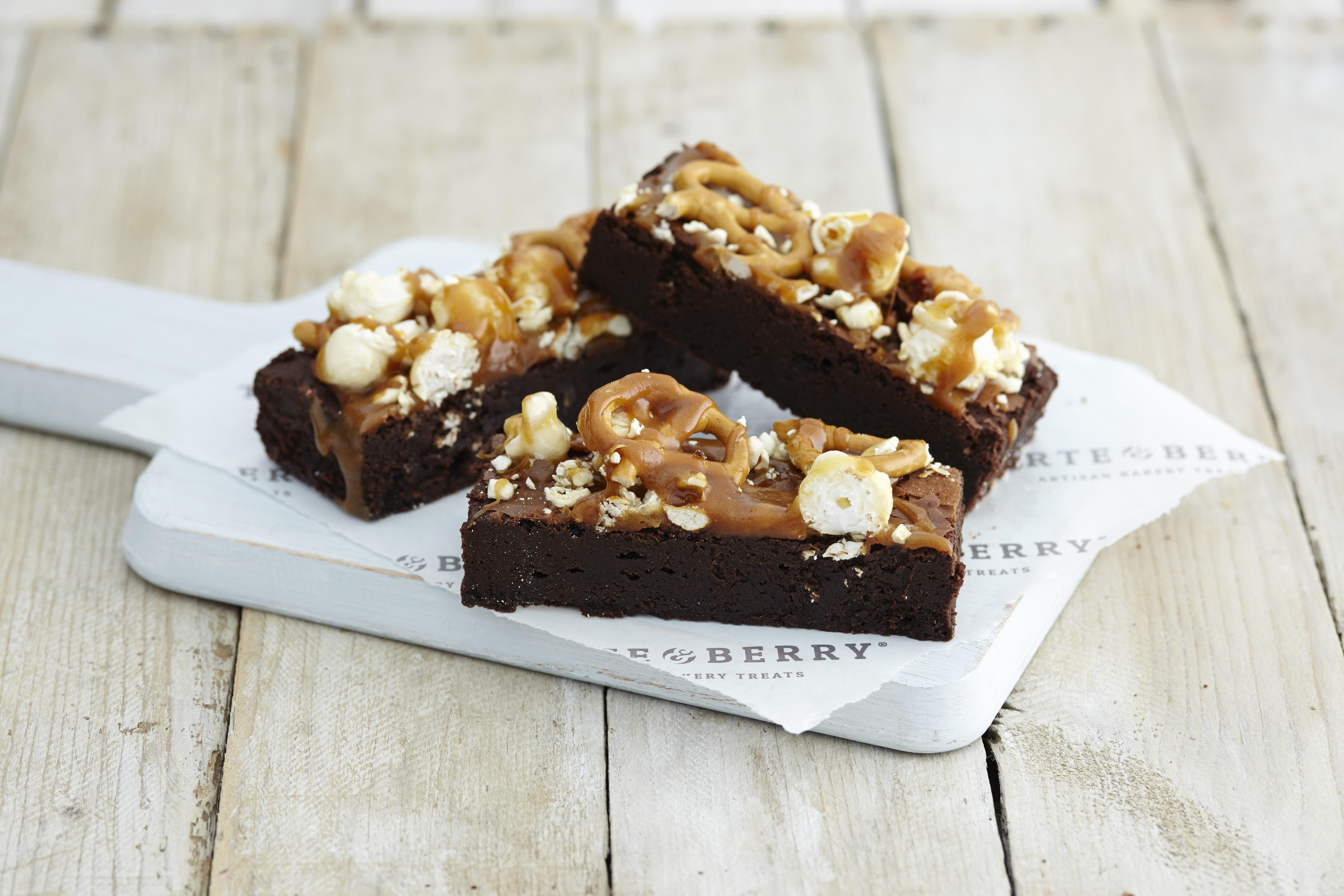 Pretzel Popcorn Brownie