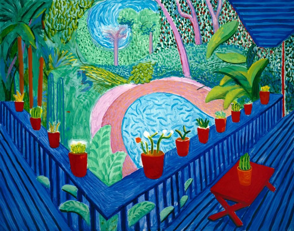 """""""Red Pots in the Garden"""" 2000 © David Hockney. Photo Credit: Richard Schmidt"""