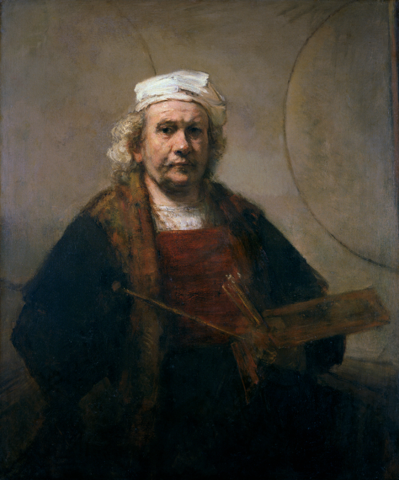 Rembrandt van Rijn, Self-Portrait with Two Circles, c. 1665-69 | Courtesy Kenwood House, Iveagh Bequest/English Heritage