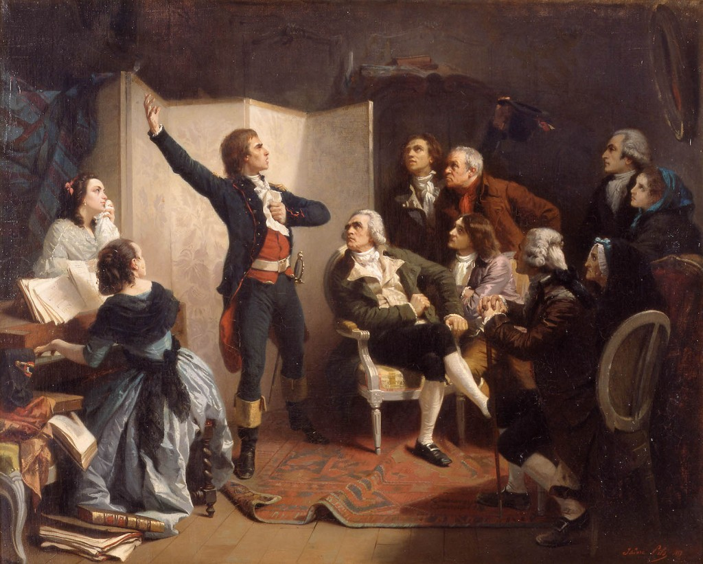 Rouget de L'isle Sings the Marseillaise for the FIrst Time in 1792 , oil on canvas by Isidore Pils painted in 1849 ©Strasbourg, Musée Historique/M.BertolapreM.Bertola