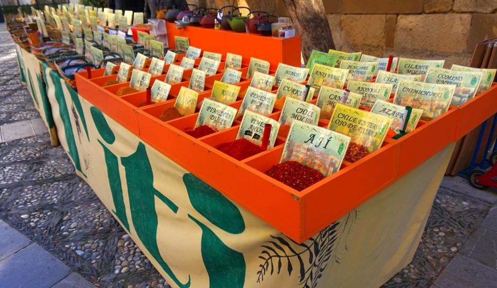 Granada´s spice market, near the cathedral; courtesy of Encarni Novillo
