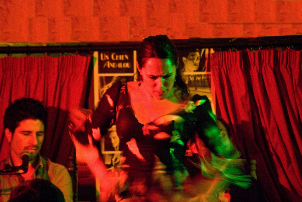 Flamenco performances at the Chien Andalou are powerful and intimate; courtesy of Peter Nayler