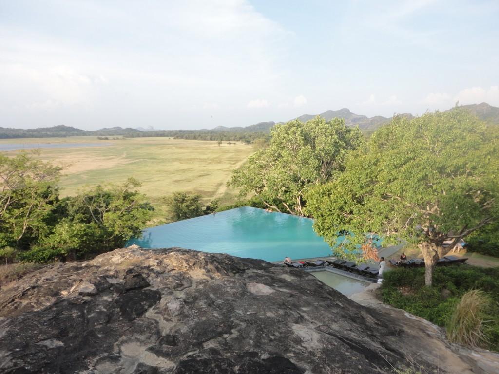 The infinity pool at Heritance Kandalama |© Avindi Perera