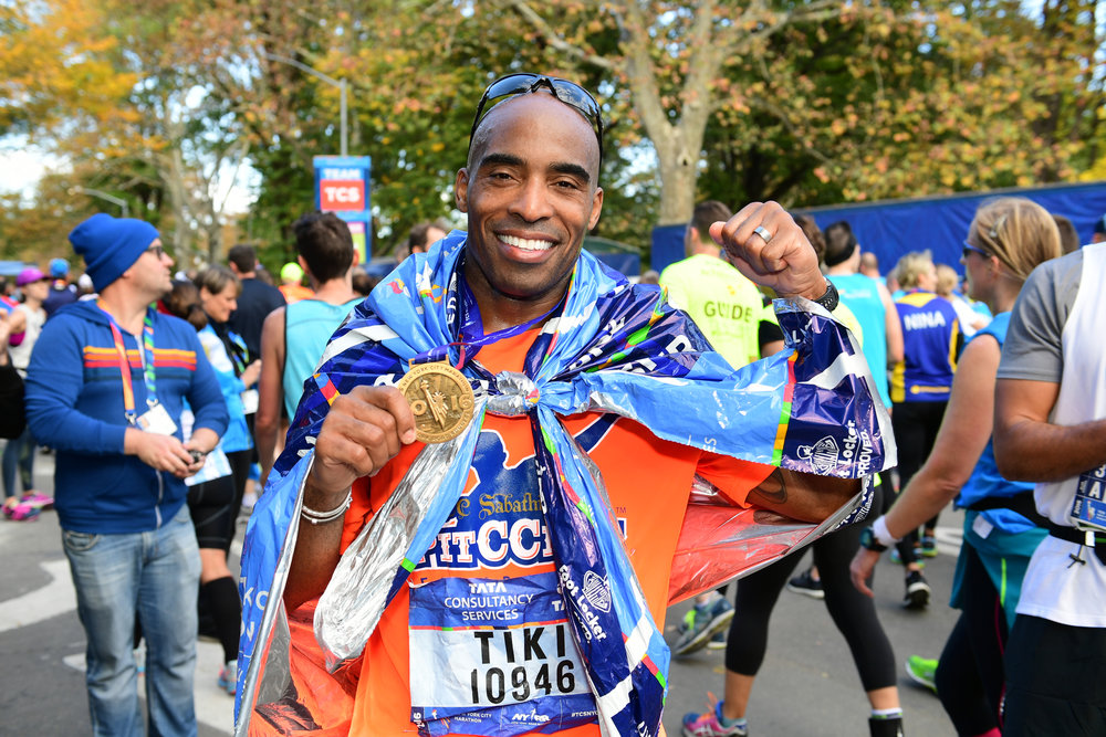 Tiki Barber has reinvented himself as a marathon runner following a 10-year career in the National Football League | © NYRR