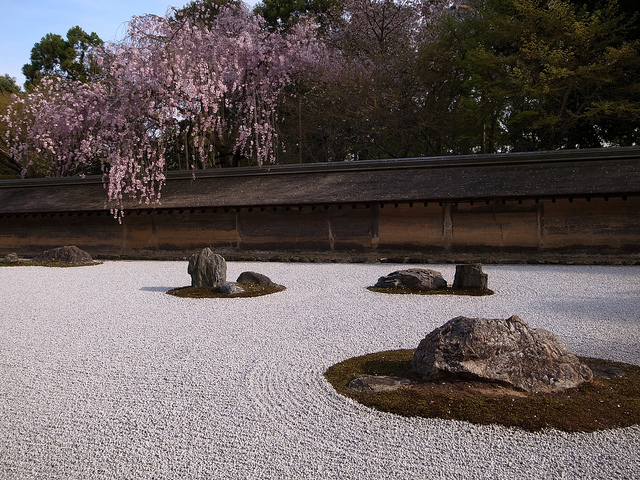 Zen Garden at Ryoan-ji Temple