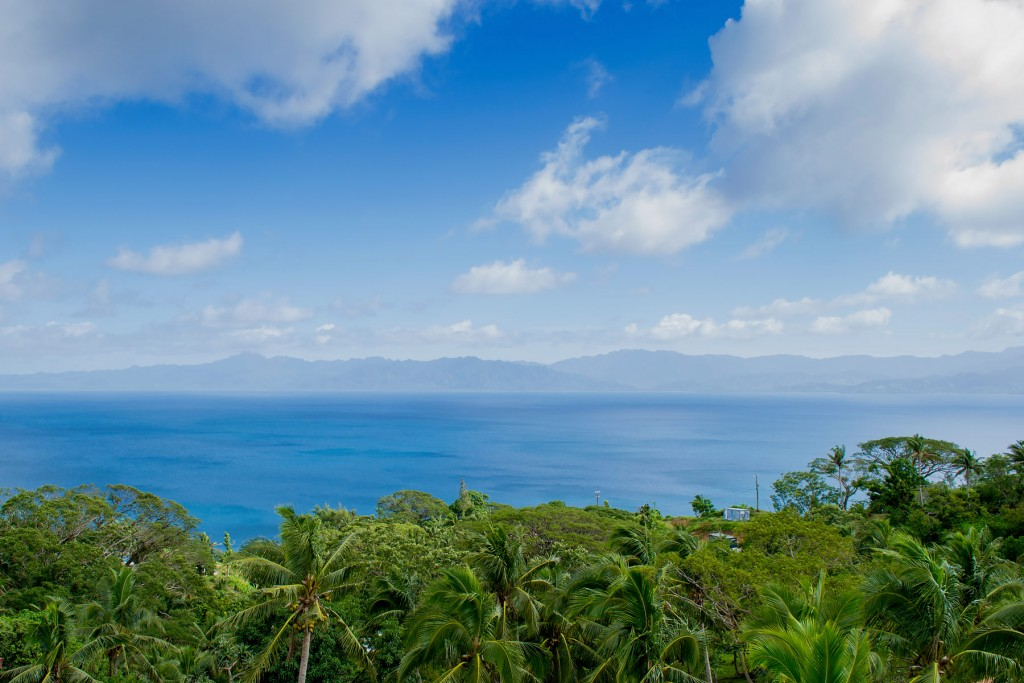 The view out to Savusavu Bay from the hills | © Juliette Sivertsen