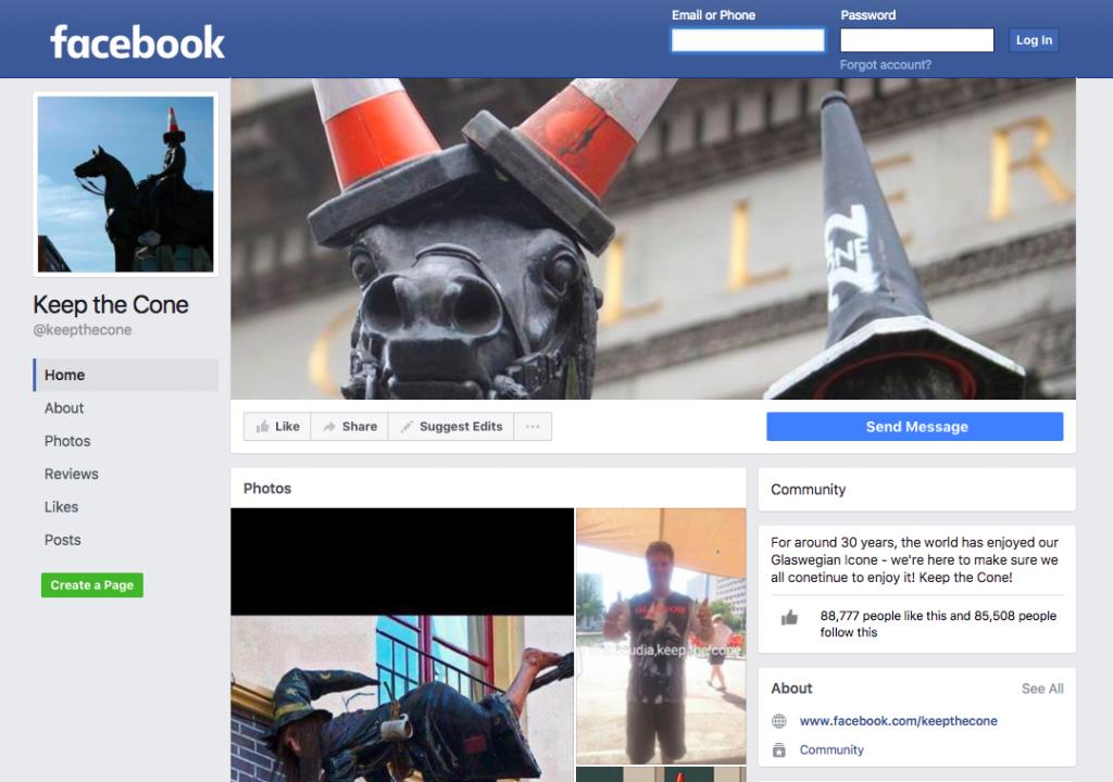Keep The Cone Facebook Page | © Facebook