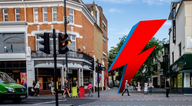 Artists impression of Bowie tribute | ©This Ain't Rock'n'Roll