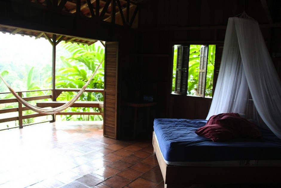 Rainforest view room at the Selva Bananito Lodge
