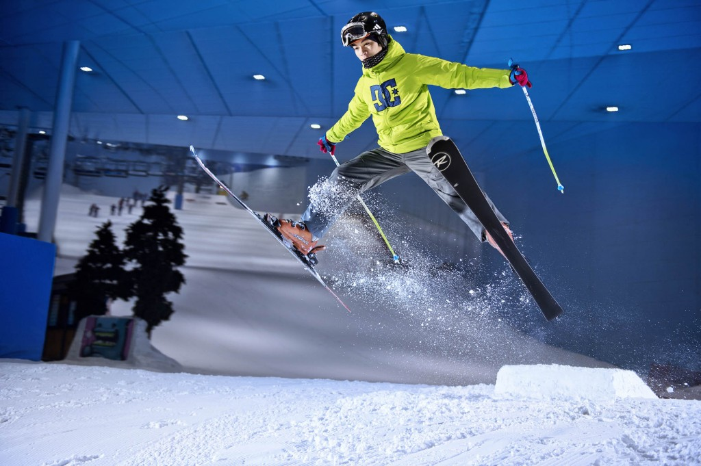 Skier doing tricks at Ski Dubai |Courtesy of Ski Dubai