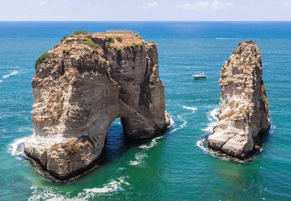 Pigeons' Rock limestone island in Beirut, Lebanon | © Aleksandr Sadkov / Shutterstock