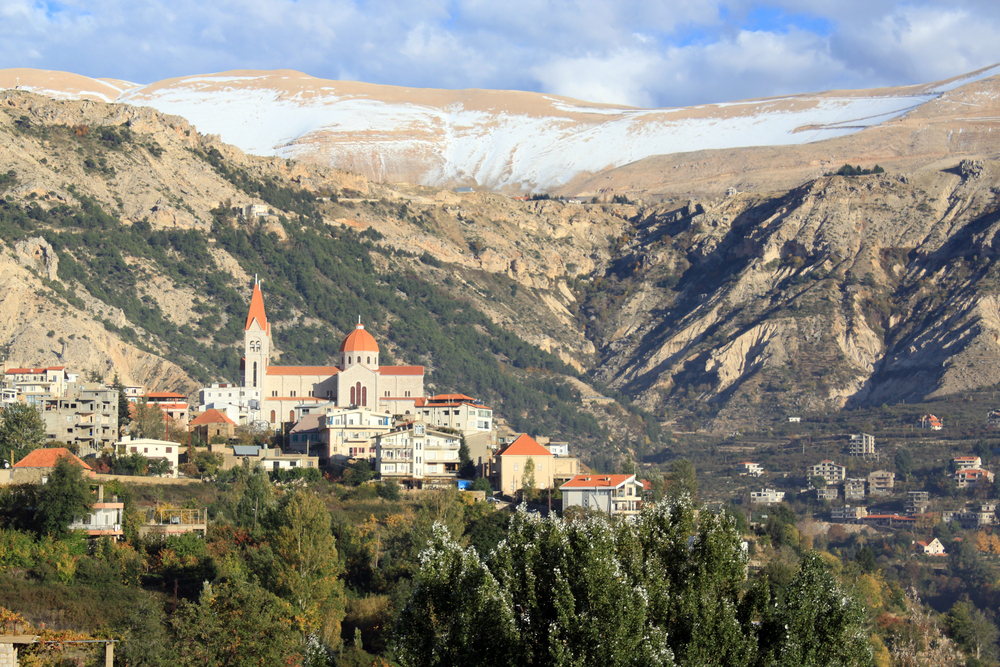 Mount, snow and town Bcharre in Lebanon | © Valery Shanin / Shutterstock