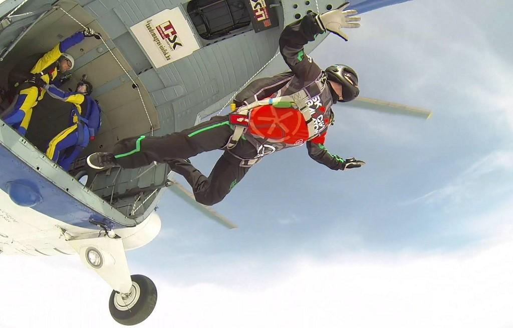 Skydiving over Lake Balaton