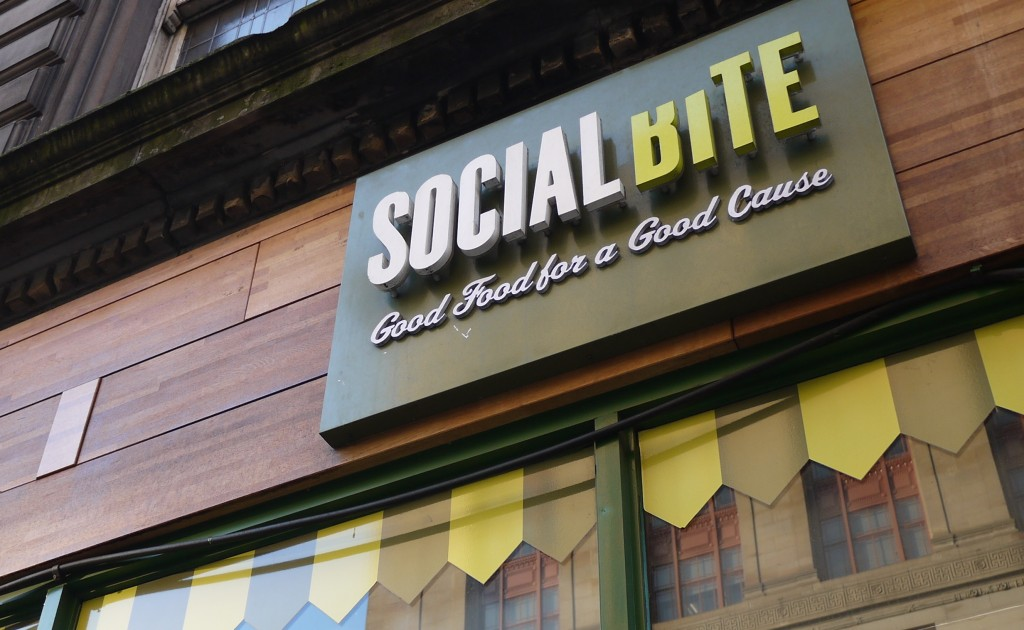 Social Bite Sign | Courtesy Of Social Bite And Frame Agency Glasgow